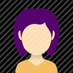 american, avatars, european, hairstyles, heads, ladies, short hair icon