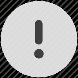 alert, important, warning icon