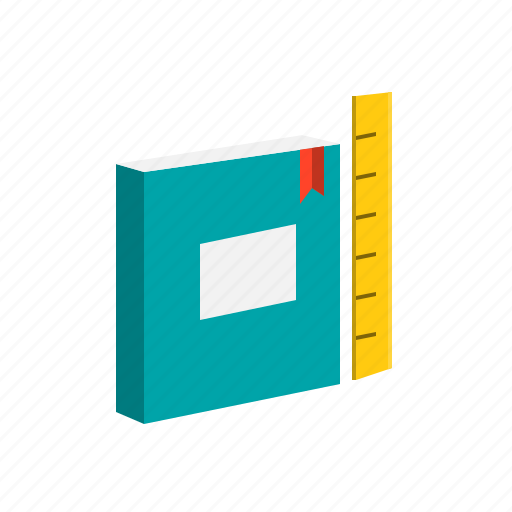 book, class, education, reading, ruler, scale, study icon