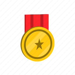 award, education, gold, medal, prize, success icon