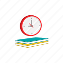 book, class, clock, education, period, schedule, time icon