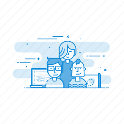 business, our, team, teamwork, users icon