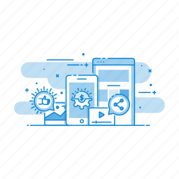 business, communication, maeketing, mobile, smartphone icon