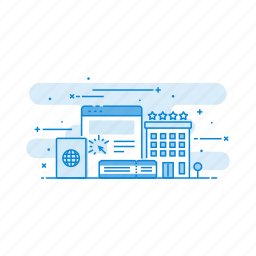 ecommerce, internet, network, online, reservation icon