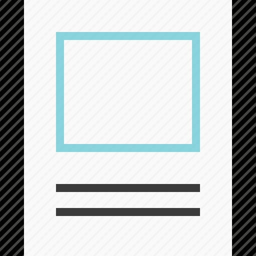 full, mockup, page, photo icon