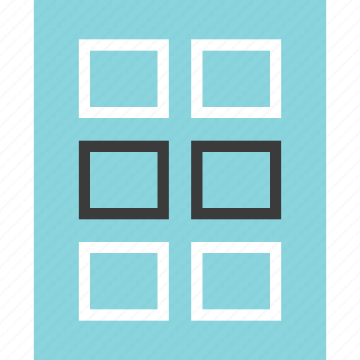 gallery, grid, view icon