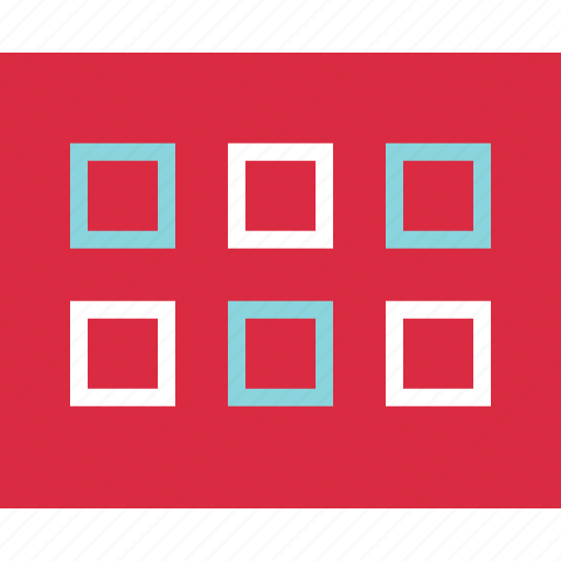 gallery, grid, layout, post icon