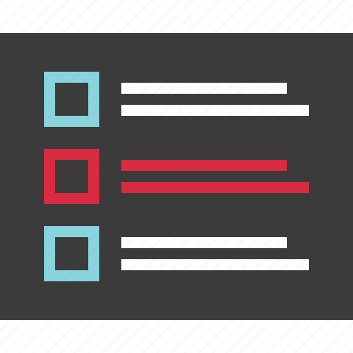 box, layout, list, view icon