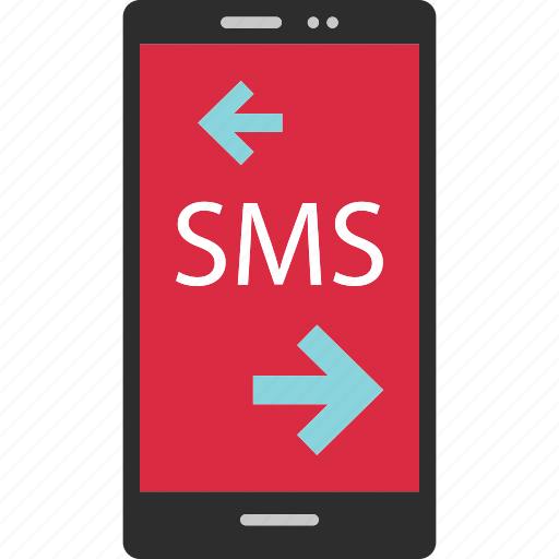 arrow, cell, left, phone, right, sms icon