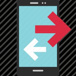 activity, arrow, internet, left, online, right icon