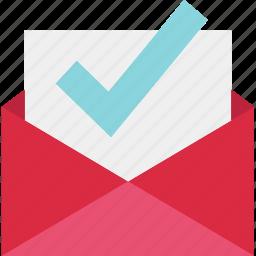 check, email, envelope, good, mail, mark, ok icon