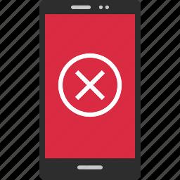 cell, close, cross, delete, denied, stop, x icon