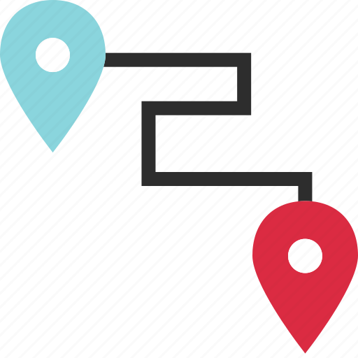 destination, direction, gps, located, maps, pins icon