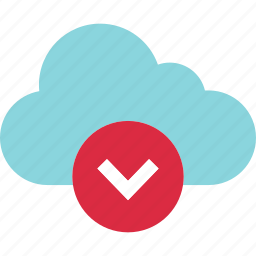 cloud, data, down, download, request, weather icon