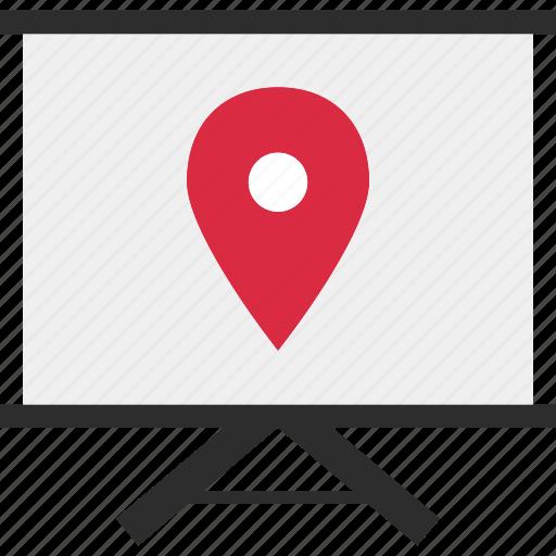 board, gps, learn, location, online, web icon
