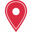 gps, located, location, online, web icon