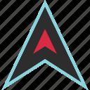 arrow, gps, location, pin, point, up icon
