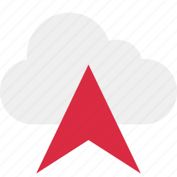 arrow, cloud, connect, connection, data, point, up icon