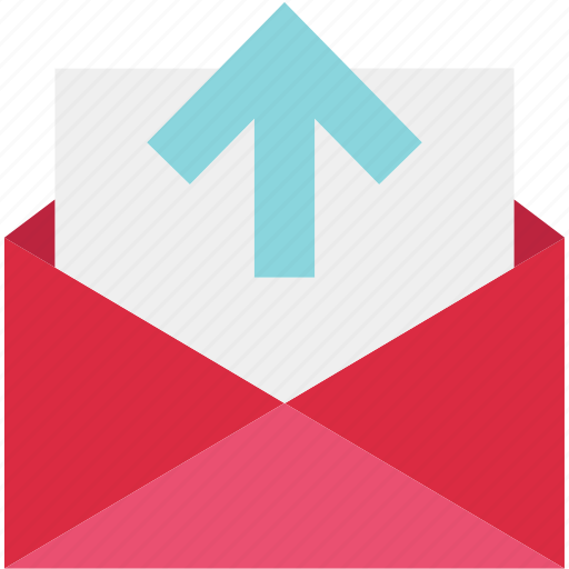 arrow, email, envelope, mail, message, send, up icon