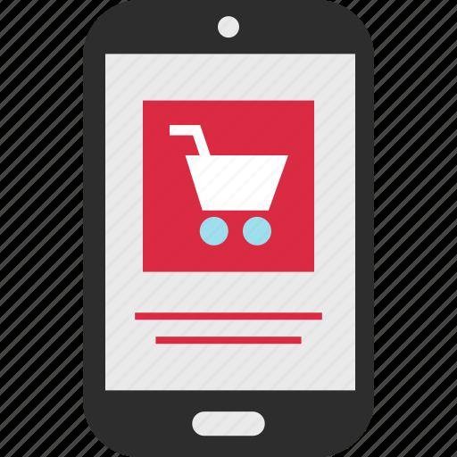 cart, checkout, mobile icon