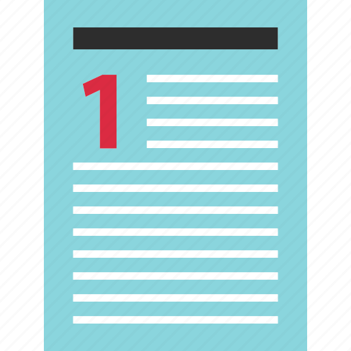 contract, document, number, one, page icon
