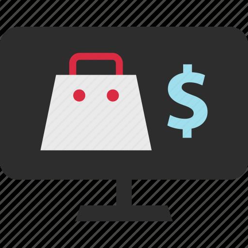 bag, dollar, mall, sign icon