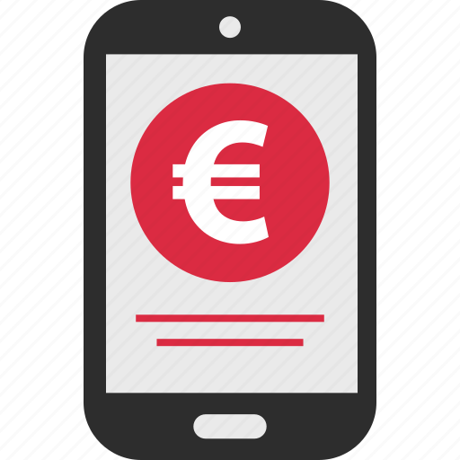 ecommerce, euro, mobile, sign icon