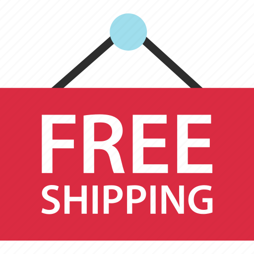 ecommerce, free, shipping, sign icon