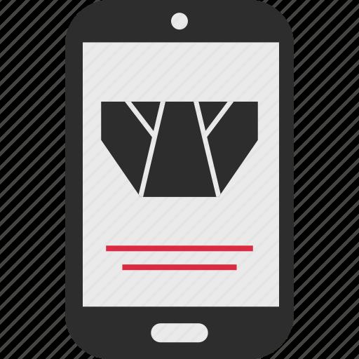 goods, mobile, underwear icon