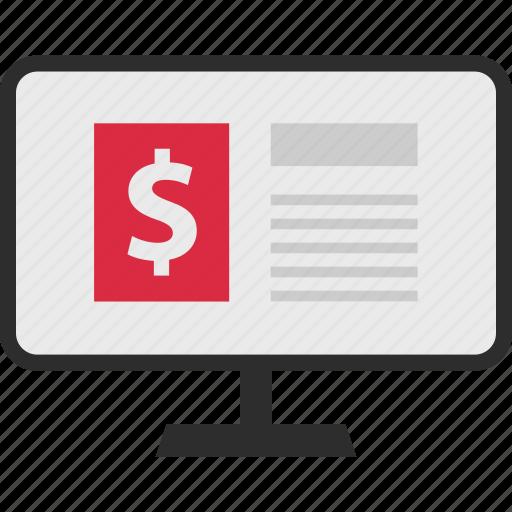Mockup, dollar, sign icon