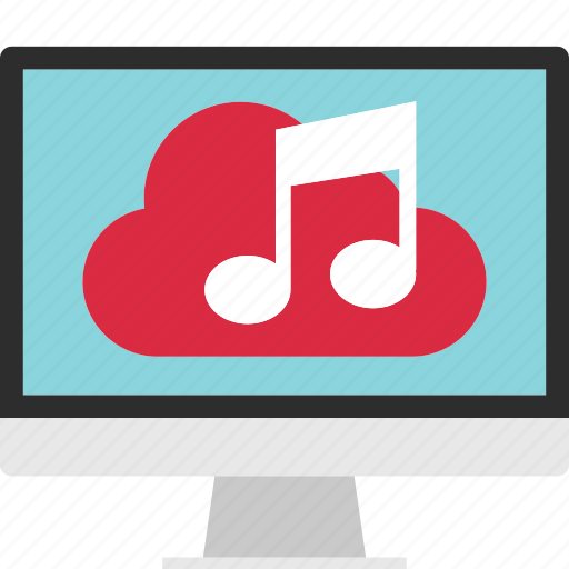 cloud, data, download, guardar, music, play, save, server icon