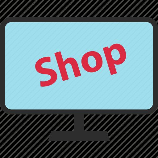 mac, monitor, pc, shop icon