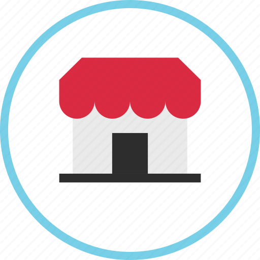 ecommerce, front, store icon