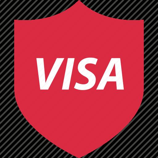 ok, shield, visa icon