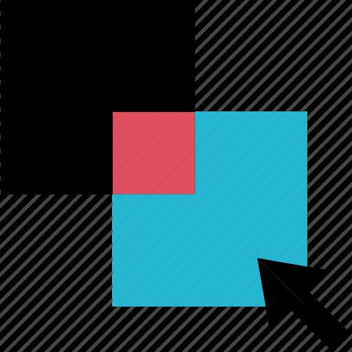 arrow, click, online icon