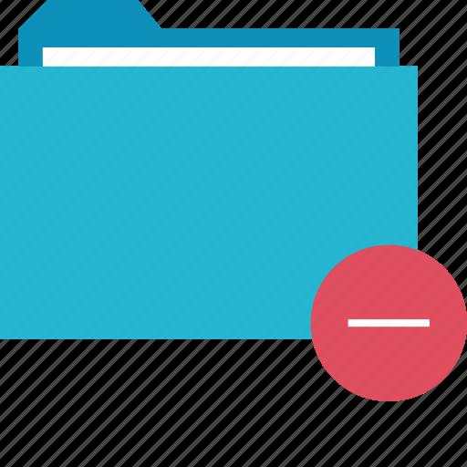 folder, line, negative icon