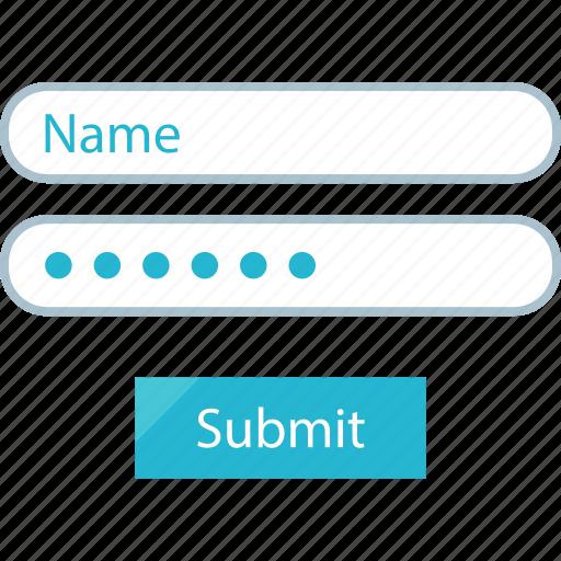 data, form, input icon