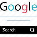 find, google, search icon