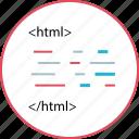 html, language, script icon