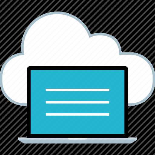 cloud, laptop, online icon