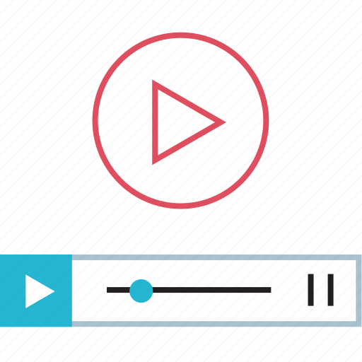 media, play, video icon