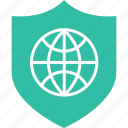 internet, save, shield icon