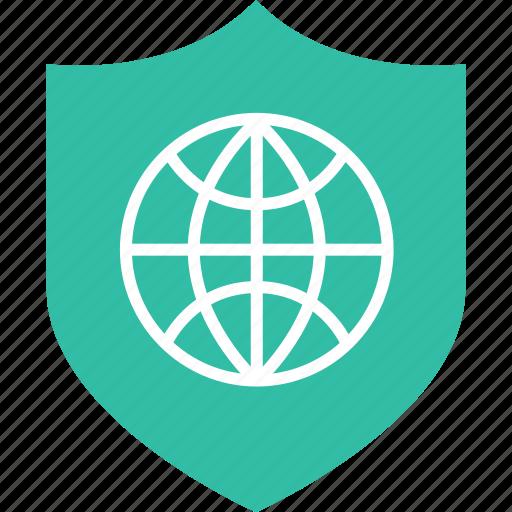 internet, save, shield icon