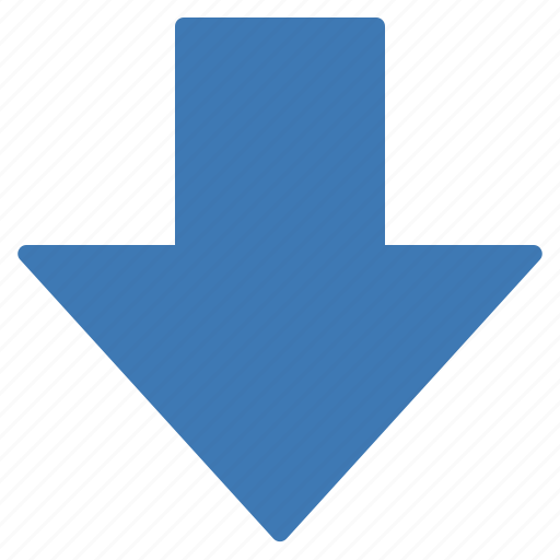 action, arrow, down icon