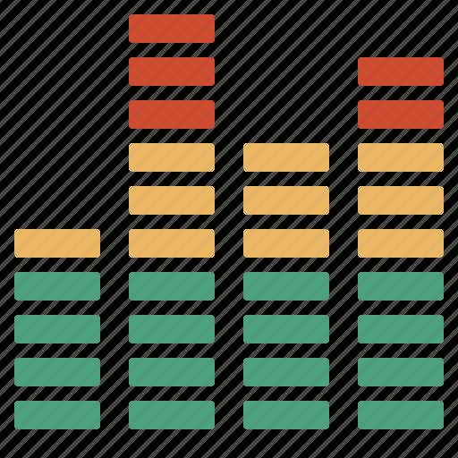 audio, colors, levels icon