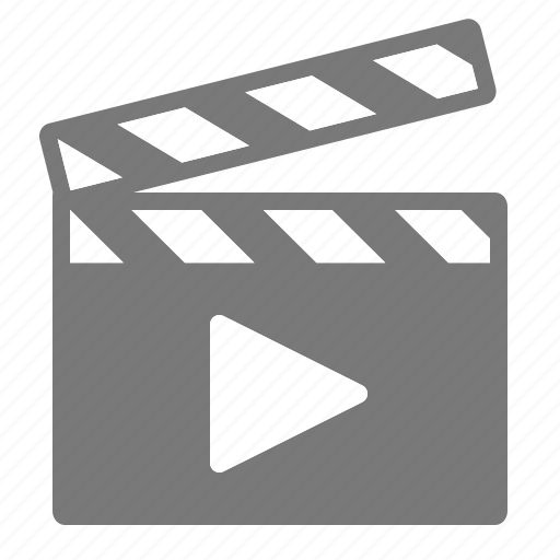 clap, filming, movie, play icon