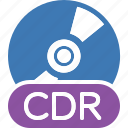 quality, disc, type, cdr icon