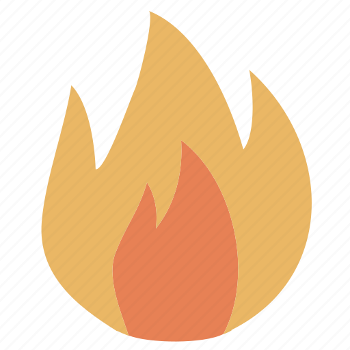 burn, flame, hot, media icon