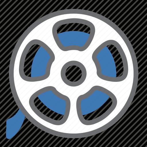 film, movie, reel, roll, vintage icon