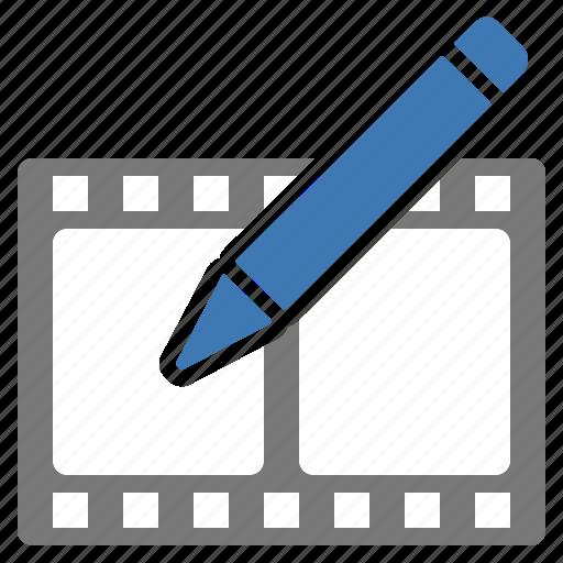 Edit, modify, movie, write icon - Download on Iconfinder